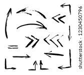 set of hand drawn design... | Shutterstock .eps vector #1230450796
