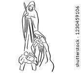 christmas christian nativity...   Shutterstock .eps vector #1230459106