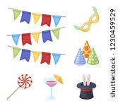 party  entertainment cartoon... | Shutterstock . vector #1230459529