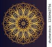 hand drawn henna ethnic mandala.... | Shutterstock .eps vector #1230463756