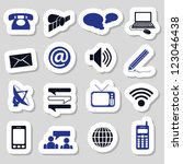 communication stickers | Shutterstock .eps vector #123046438