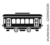 city old tram icon. simple... | Shutterstock .eps vector #1230465100