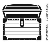 treasure chest icon. simple... | Shutterstock .eps vector #1230465103