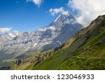 famous mount eiger in the... | Shutterstock . vector #123046933