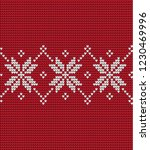 knitted christmas and new year... | Shutterstock .eps vector #1230469996
