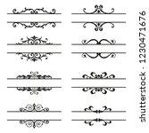 set of decorative florish... | Shutterstock .eps vector #1230471676