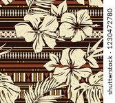 abstract hibiscus flower tribal ... | Shutterstock .eps vector #1230472780