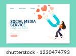 social media service landing... | Shutterstock .eps vector #1230474793