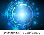 futuristic digital cyber... | Shutterstock .eps vector #1230478579