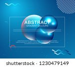 colorful geometric background.... | Shutterstock .eps vector #1230479149