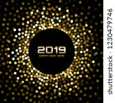 new year 2019 card background.... | Shutterstock .eps vector #1230479746