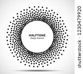 halftone circular dotted frame.... | Shutterstock .eps vector #1230479920