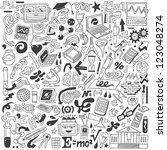science   doodles collection | Shutterstock .eps vector #123048274
