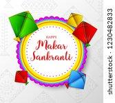 makar sankranti greeting card... | Shutterstock .eps vector #1230482833