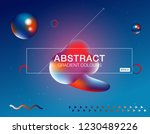 memphis abstract color... | Shutterstock .eps vector #1230489226