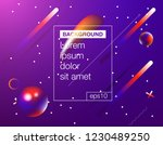 memphis abstract color... | Shutterstock .eps vector #1230489250
