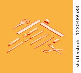 stationery assortment set of... | Shutterstock .eps vector #1230489583