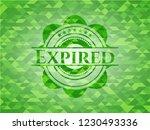 expired green emblem. mosaic... | Shutterstock .eps vector #1230493336