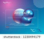 colorful geometric background.... | Shutterstock .eps vector #1230494179