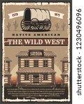wild west texas retro poster of ...   Shutterstock .eps vector #1230496096