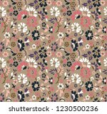seamless cut small floral... | Shutterstock .eps vector #1230500236