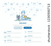 man on holidays concept with...   Shutterstock .eps vector #1230500713