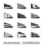 noise barriers on highway  ... | Shutterstock .eps vector #1230502240