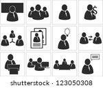 business pictogram vector... | Shutterstock .eps vector #123050308