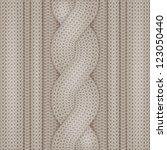 knitted woolen texture | Shutterstock .eps vector #123050440