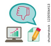 thumbs down or dislike hand... | Shutterstock .eps vector #1230506413