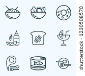 nutrition icons line style set... | Shutterstock .eps vector #1230508570