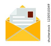 web mail message isolated... | Shutterstock .eps vector #1230510349