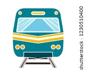 vector railway train isolated... | Shutterstock .eps vector #1230510400