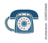 vector old phone isolated icon  ... | Shutterstock .eps vector #1230510460