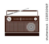 vector antique radio isolated... | Shutterstock .eps vector #1230510469