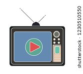 vector old broadcast television ... | Shutterstock .eps vector #1230510550
