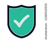 vector safety shield isolated... | Shutterstock .eps vector #1230510553