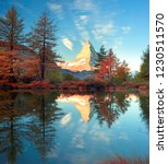autumn larches on the... | Shutterstock . vector #1230511570