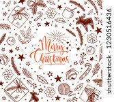 winter christmas and new year...   Shutterstock .eps vector #1230516436