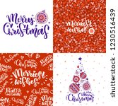 set of christmas cards with...   Shutterstock .eps vector #1230516439