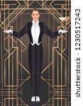 art deco vintage invitation... | Shutterstock .eps vector #1230517243