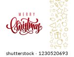 christmas holiday postcard with ... | Shutterstock .eps vector #1230520693