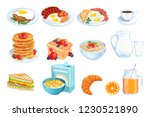 cooking breakfast  vector... | Shutterstock .eps vector #1230521890