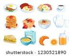 cooking breakfast  vector...   Shutterstock .eps vector #1230521890