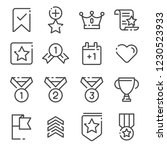 votes and rewards line icons... | Shutterstock .eps vector #1230523933