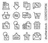 modern flat icons set of... | Shutterstock .eps vector #1230523936