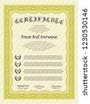 yellow diploma. cordial design. ...   Shutterstock .eps vector #1230530146