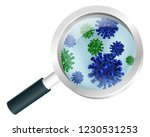 bacteria or virus under a... | Shutterstock .eps vector #1230531253