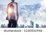 double exposure of elegant...   Shutterstock . vector #1230531946