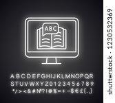 online language learning neon... | Shutterstock .eps vector #1230532369
